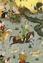 cacciatori persiani su cavalli appaloosa
