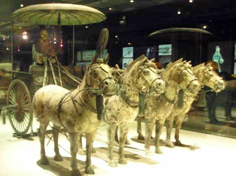 cina Qin dynasty cavalli appaloosa leopard carrozza.jpg