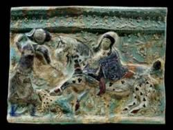 cina tang dynasty cavalli appaloosa bassorilievo