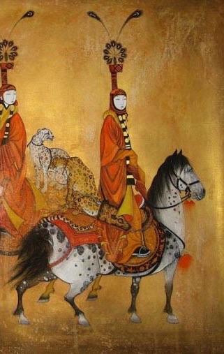 cina tang dynasty cavalli appaloosa donne