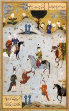 giocatori di polo iracheni con cavalli leopard appaloosa