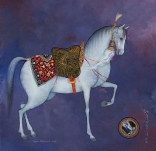 miniatura di cavallo persiano appaloosa maculato