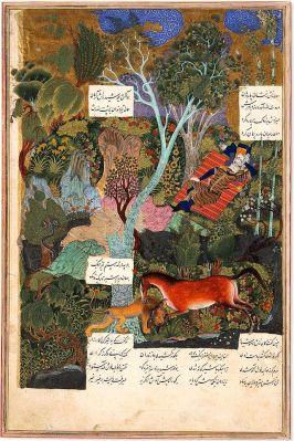 Raksh-comabatte il leone-mentre-Rostam-dorme-2