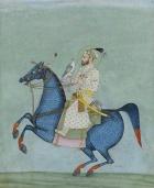 un ritratto equestre dell imperatore indiano SHAH JAHAN
