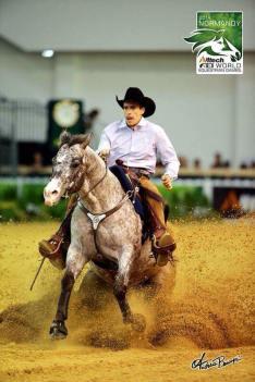 BOEMIL TWIN ROBOTOP stallone appaloosa reining stop WEG 2014