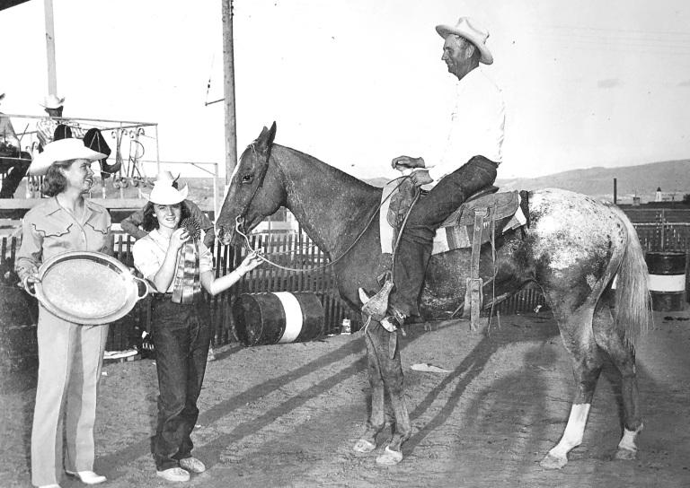 Stallone appaloosa Apache campione di Reining nel 1956